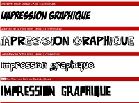 impression graphique typographie police cartoon