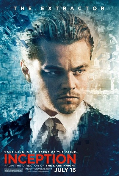 affiche d'inception de Christopher Nolan - Leonard DiCaprio
