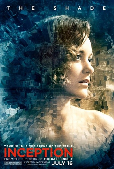affiche d'inception de Christopher Nolan - marion cotillard