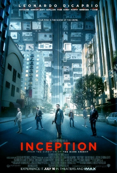 affiche d'inception de Christopher Nolan