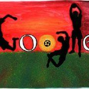 doodle for google - i love football - logo par Barbara Szpirglas