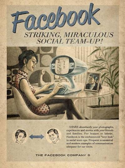 FaceBook Vintage par l'agence Moma