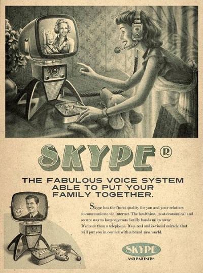 Skype vintage par l'agence Moma