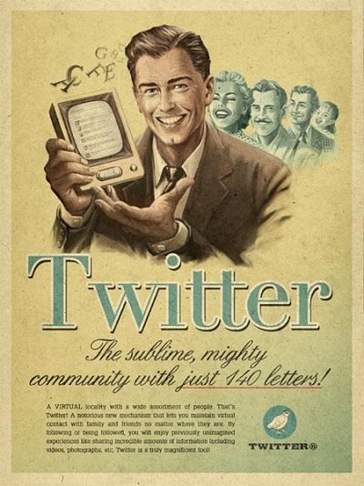 Twitter vintage par l'agence Moma