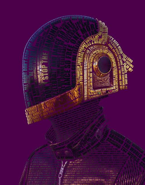 Un Daft Punk typographié