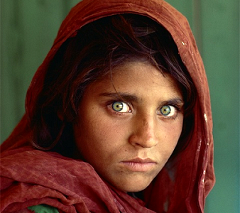 Sharbat Gula par Steve McCurry