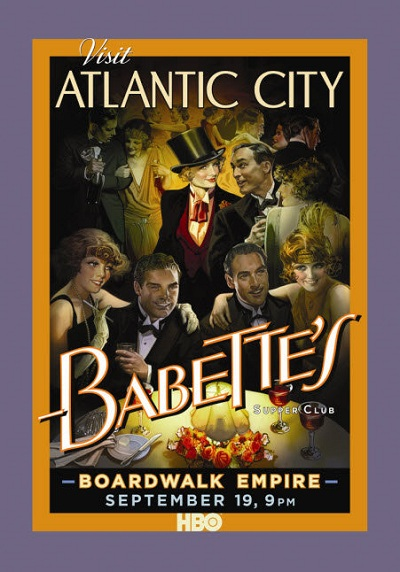 boardwalk empire affiche vintage