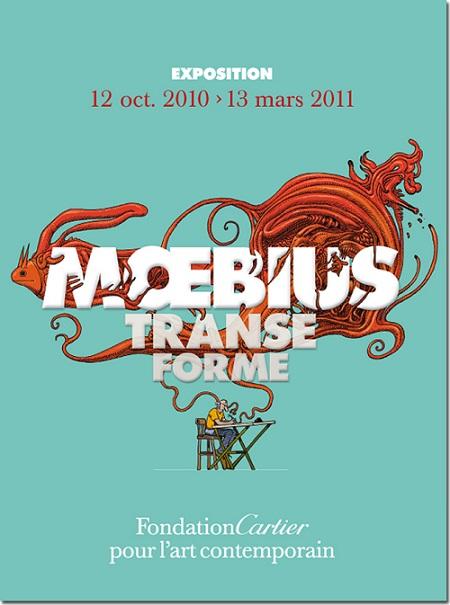 affiche expo transe forme de Moebius à la fondation cartier