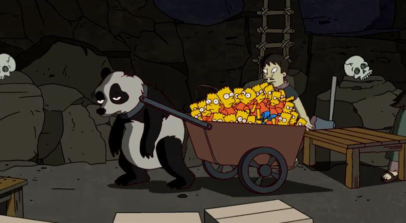 Banksy revisite le générique des Simpsons