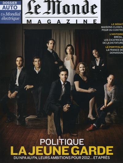 couverture du monde magazine la jeune garde