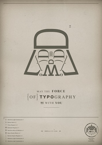 May the force of Typography be with you par H-57 Creative Station - affiche 1