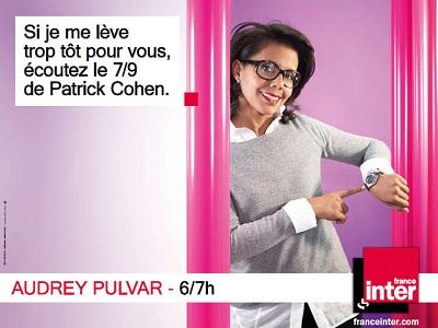 campagne France Inter Audrey Pulvar
