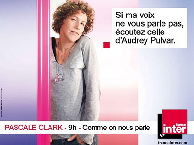 campagne France Inter Pascale Clark
