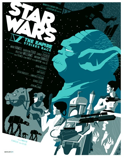 Star Wars The Empire Strikes Back par Tom Whalen