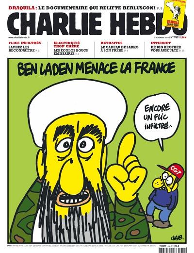 une Charlie Hebdo du numéro 959