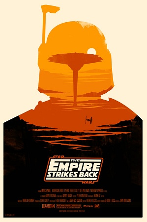 affiche Star Wars L'Empire contre-attaque par Olly Moss