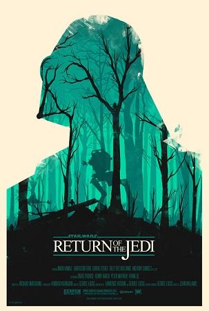 affiche Star Wars Le retour du Jedi par Olly Moss