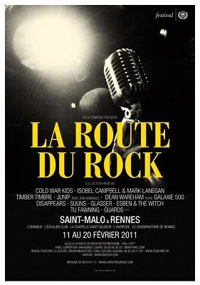 affiche festival la Route du Rock Collection Hiver 2011