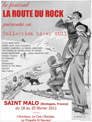 affiche la Route du Rock Collection Hiver 2011