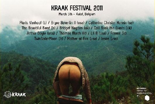 L'affiche déculottée de l'édition 2011 du Kraak Festival