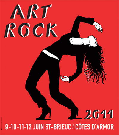 affiche Art Rock 2011 par Miss.Tic