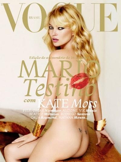 Kate Moss déshabillée par Mario Testino pour Vogue Brésil