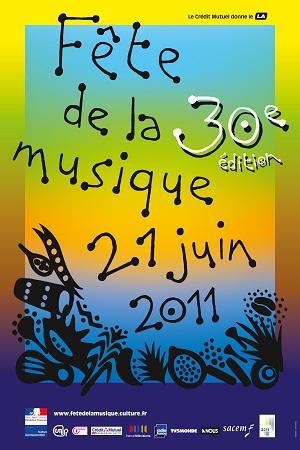 L'affiche de la trentième édition de la fête de la musique