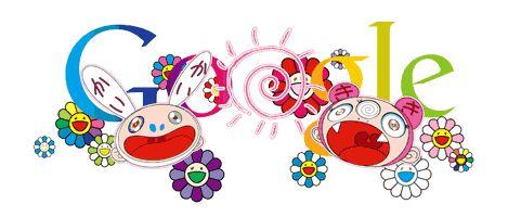 Google doodle Takashi Murakami