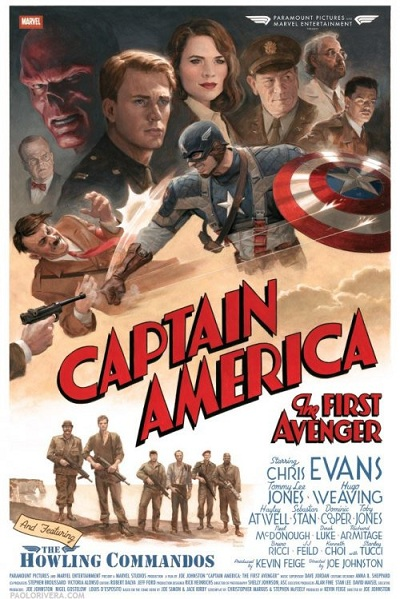 Le poster rétro de <em>Captain America: The First Avenger</em>