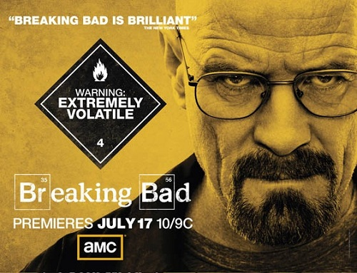 Le poster de la saison 4 de Breaking Bad
