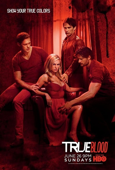poster True Blood saison 4 rouge
