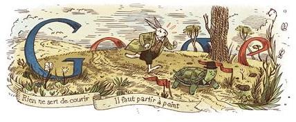 Google fête l'anniversaire de Jean de la Fontaine