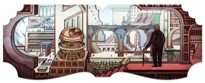 Doodle salue les 112 ans de Borges