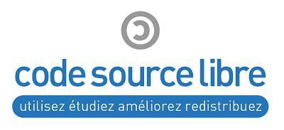 logo code source libre réalisé par Bruno Bichet