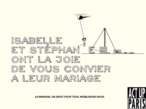 affiche Act Up campagne mariage un droit pour tous