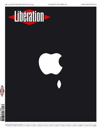 Libération porte le deuil de Steve Jobs