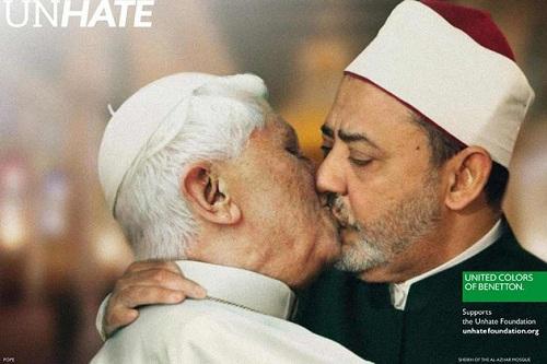 campagne Benetton Unhate censurée pape