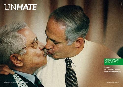 campagne Benetton Unhate censurée Netanyahou - Abbas