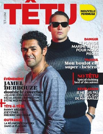 Jamel Debbouze en couverture de Têtu