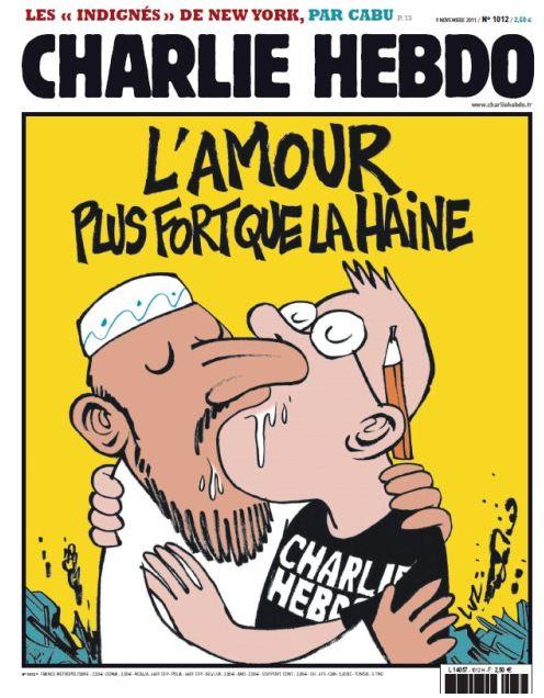 La une de Charlie Hebdo après l'incendie