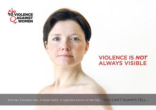 affiche de Trine Sejthen pour le concours No to violence against women