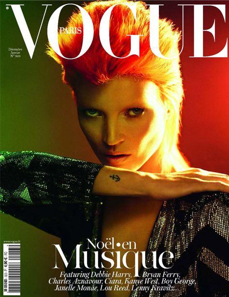 Kate Moss devient Ziggy Stardust pour la couverture du french Vogue