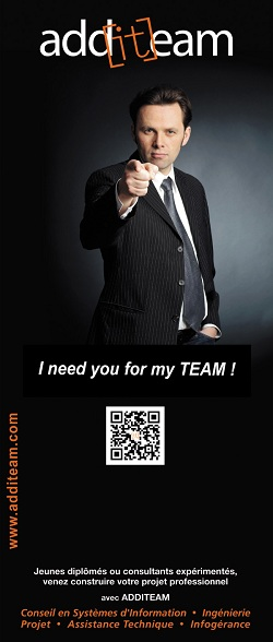 "Additeam communication visuelle ""i want you in my team"""