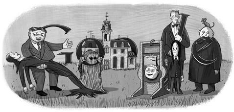 Google salue le centième anniversaire de Charles Addams