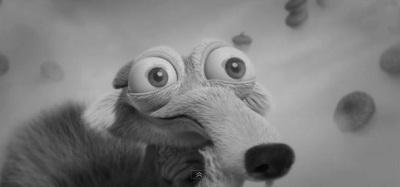 Scrat, l'écureuil de L'Age de glace rend hommage à The Artist
