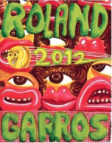 L'affiche de Roland Garros 2012 par Hervé Di Rosa