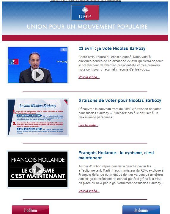 newsletter UMP