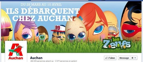 timeline Facebook Auchan