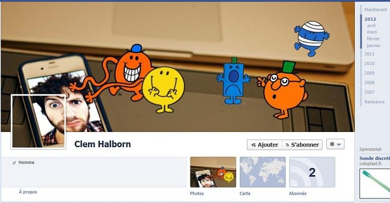 timeline Facebook Clem Halborn