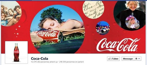 timeline Facebook Coca-Cola